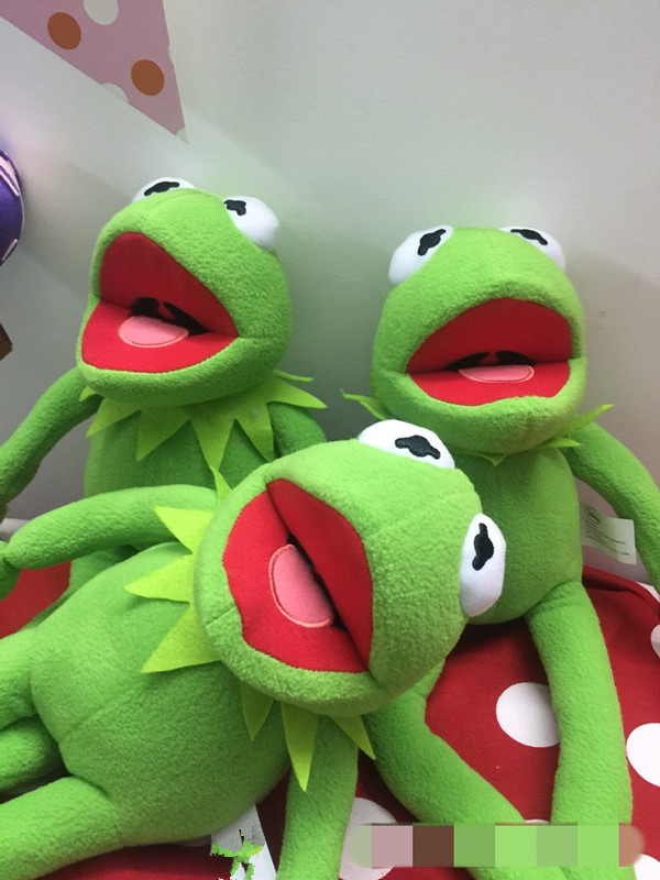 Original The Muppet Kermit Frog Cute Kawaii Plush Toy Doll Children ...