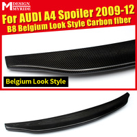 Fits For Audi A4 B8 A4a A4Q Rear Spoiler Tail Caractere Style Real Carbon Fiber Rear Spoiler Rear Trunk Wing car styling 2009 12