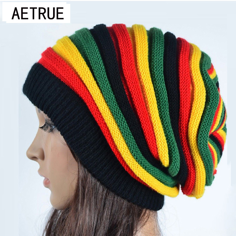 2018 Women's Winter Hats For Women Girls Winter Caps Bonnet Beanies Knitted Hat  Reggae Rasta Femme Mask Brand balaclava Hats