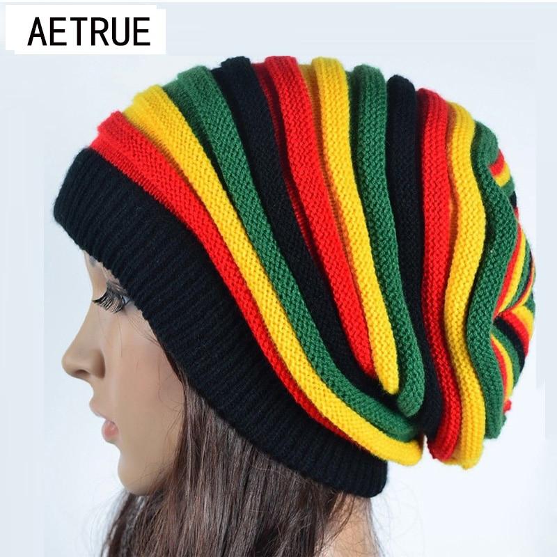 2019 Women's Winter Hats For Women Girls Winter Caps Bonnet Beanies Knitted Hat  Reggae Rasta Femme Mask Brand Balaclava Hats