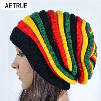 2019 frauen Winter Hüte Für Frauen Mädchen Winter Caps Bonnet Beanies Gestrickte Hut Reggae Rasta Femme Maske Marke balaclava hüte