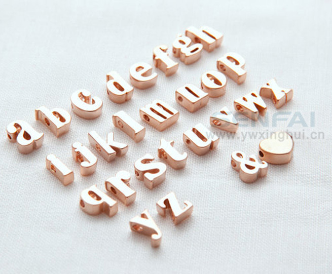 pick 10pcs from 9mm lowercase a z rose gold alphabet english letters charm for diy letter necklace