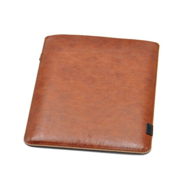 Venta funda de bolsa súper delgada de manga Ultra delgada, Funda de cuero de microfibra para bolsa de Computadora Portátil para MacBook Air Pro 13 15 16 2018 Mac 12