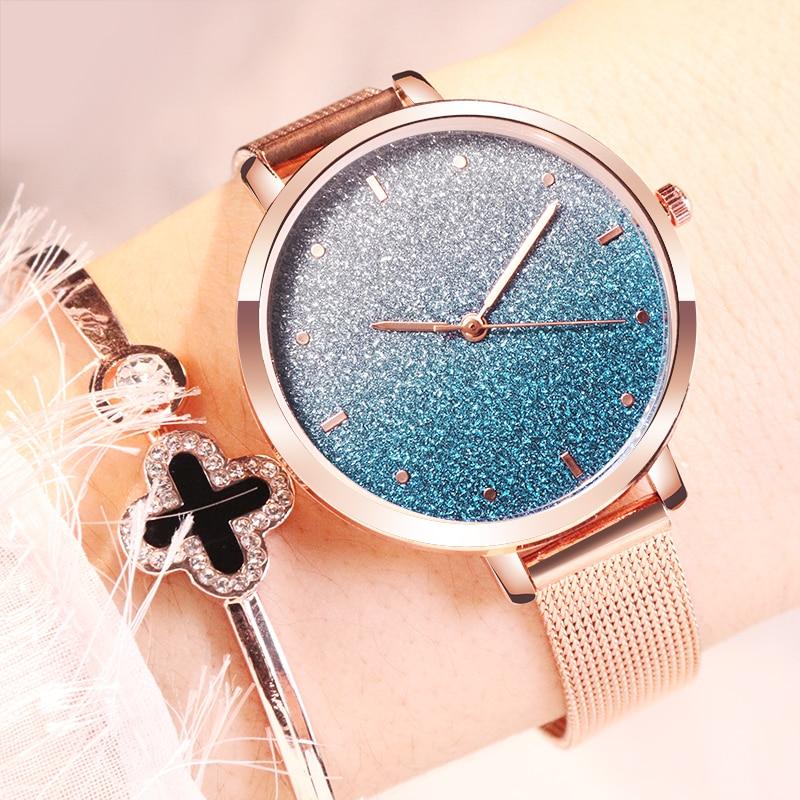 2020 New Montre Femme Women Watches Fashion Luxury Starry sky Mesh Ladies Watch Women zegarki damskie reloj mujer Dropshipping 3