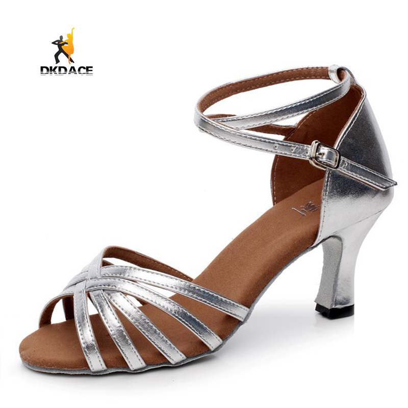 4ea876a10 Latin Ballroom Salsa Dance Shoes For Women Girls shoes Sandals Satin ...