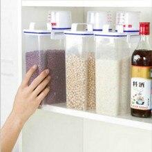 2L пластиковый диспенсер для зерновых культур коробка для хранения кухня еда зерно риса контейнер