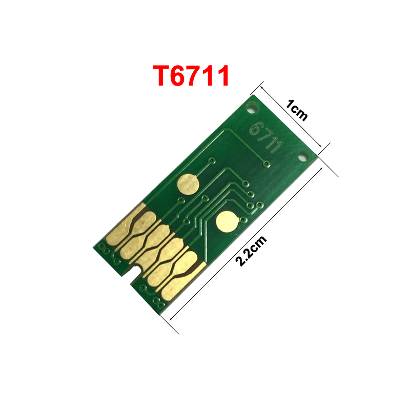 New T6711 One Time Use Maintenance Tanks Chip for Epson WF-3520/WF-3620D WF-7110 7110DTW 7610 Printer