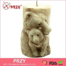 PRZY Bánh Cưới 3D Gấu Mẹ Hình Xà Phòng Handmade Khuôn Silicon Hình Thú Nến KHUÔN SOCOLA