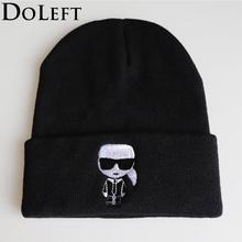 2019 Fashion Karl Beanie Hats Unisex Cartoon Solid Hip-hop Cap Skullies Knitted Winter Hat Outdoor Casual Sport Warm Cap 2016 hot sale sale solid hats hats for gorros brand autumn knitted hat hip hop ring warm beanie cap winter casual skullies gorro