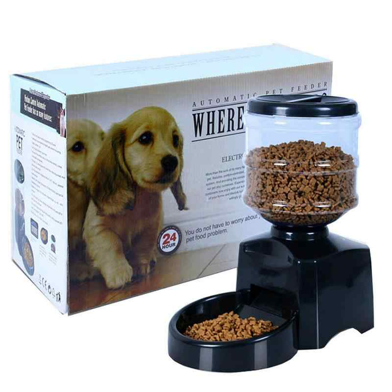 5.5L Big Automatic Feeder Pet Food Bowl Auto Program Digital Display Pet Voice Feeder Pet Bowl with Voice Message Recording