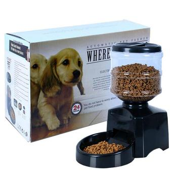 Automatic Pet Feeder fountain 5.5L Large Capacity Recording LCD Digital Voice Message Dispenser Bowl Dog Cat Stainless Container
