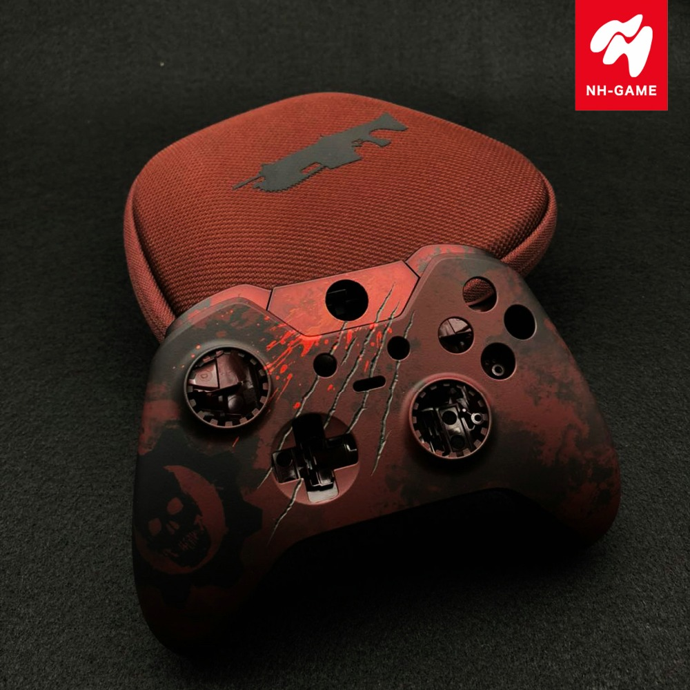 For XBOX ONE Elite Controller Parts Shell Bumper Cover Housing Case For Gears Of War Original In