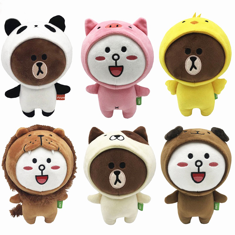 12 Pieces lot 20 CM Brown Bear Friends Six Styles Available Cony SALLY Plush Doll Toys