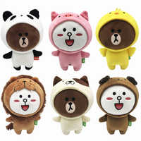 12 Pieces/lot 20 CM Brown Bear Friends Six Styles Available Cony SALLY Plush Doll Toys Stuffed Gift Kids Toys Gifts