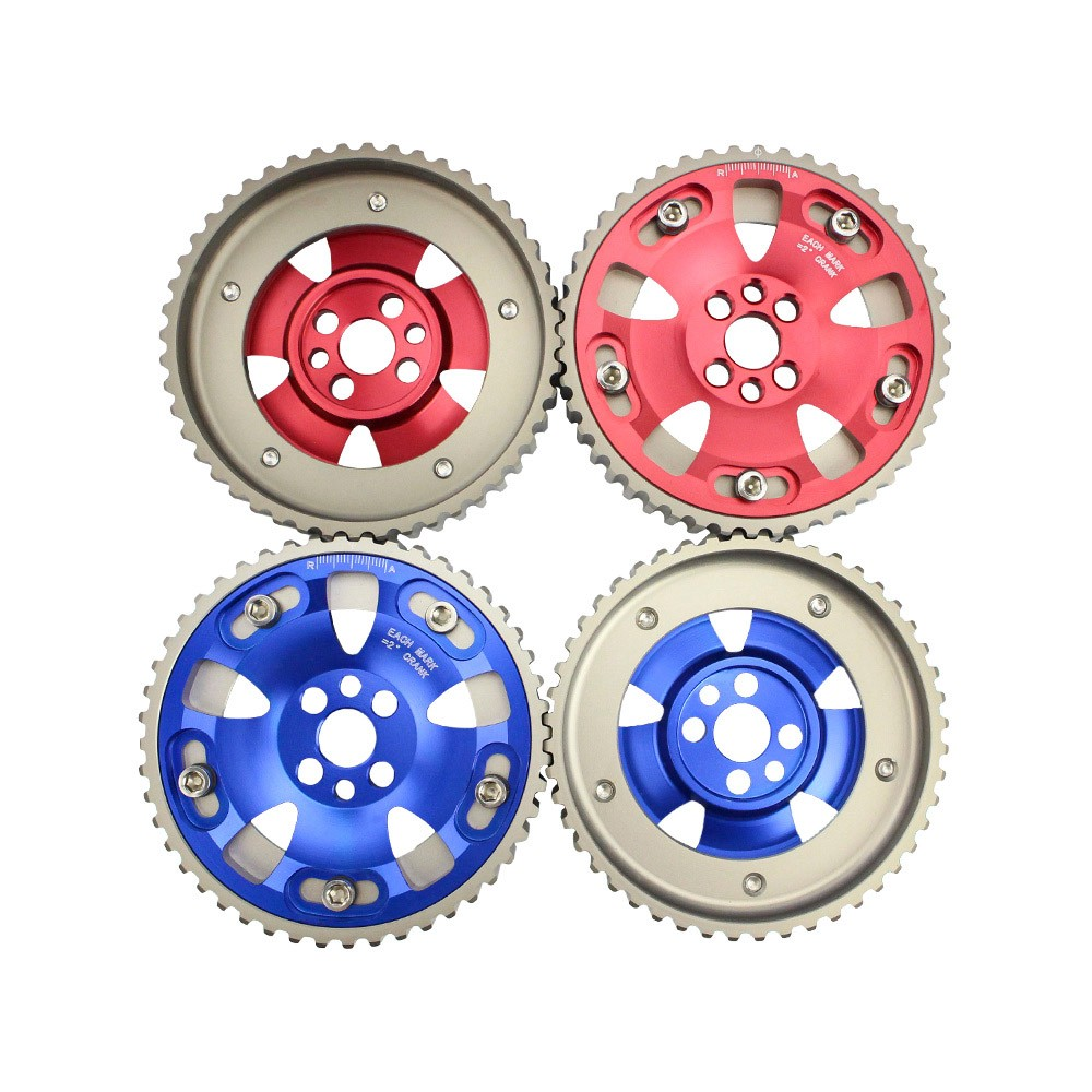 цена на CNSPEED Free shipping 2pcs CAM GEARS KIT FOR NISSAN SKYLINE RB20 RB25 RB26 R32 R33 R34 CAM PULLEY PULLYS GEARS TT100813
