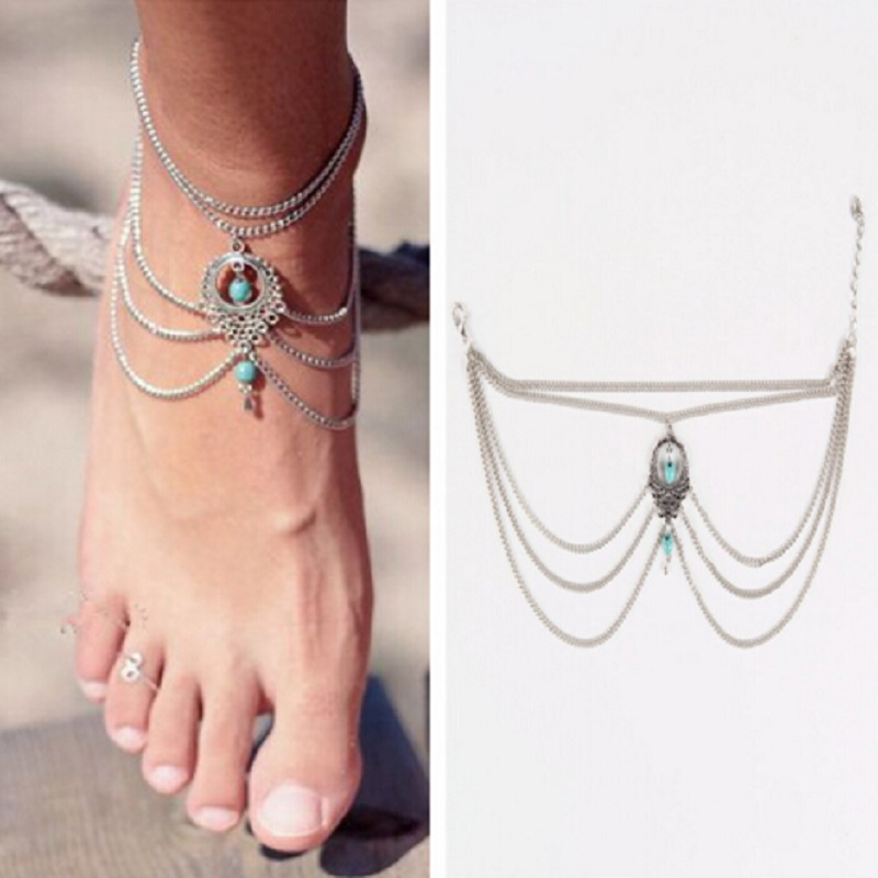 Bohemia Multilayer Women's Anklets Beach Sandals Women's Anklets Women's Favorite Jewelry Summer Best Gifts
