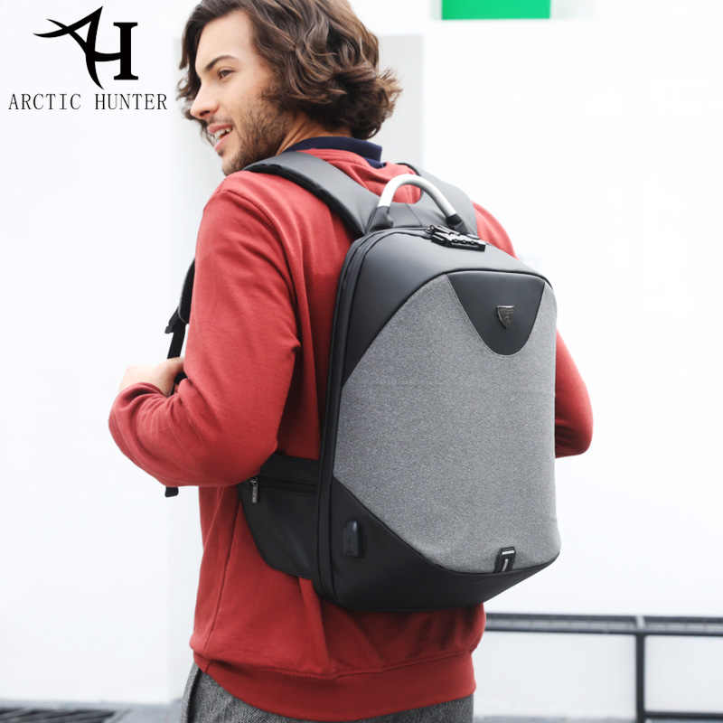 ARCTIC HUNTER New Anti-theft 15.6 Laptop Men Bag School Password Lock Backpack