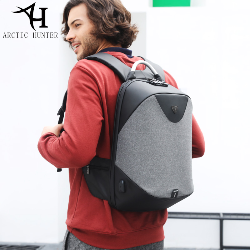 ARCTIQUE HUNTER L'école 15.6 sac à dos pour ordinateur portable hommes sacoche étanche décontracté Voyage D'affaires USB sac à dos sac masculin Anti-vol Cadeau