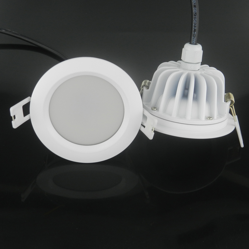 Round Waterproof IP65 AC 220V 7W/10W/12W/15W Driverless dimmable LED down light SMD 5630/5730 LED chip LED downlight 20pcs waterproof driverless dimmable led downlight 5w 7w 9w 12w 15w ceiling lamp light lighting energy saving down lamp ac 220v