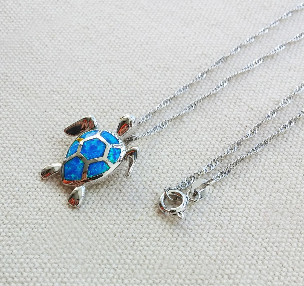 sea-turtle-blue-fire-opal-pendant-necklace 2