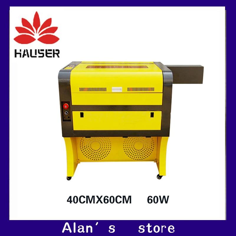 O envio gratuito de 60 w 4060 gravador do laser de co2, 220 v/100 v máquina de corte CNC máquina de gravação a laser máquina de marcação a laser co2laser