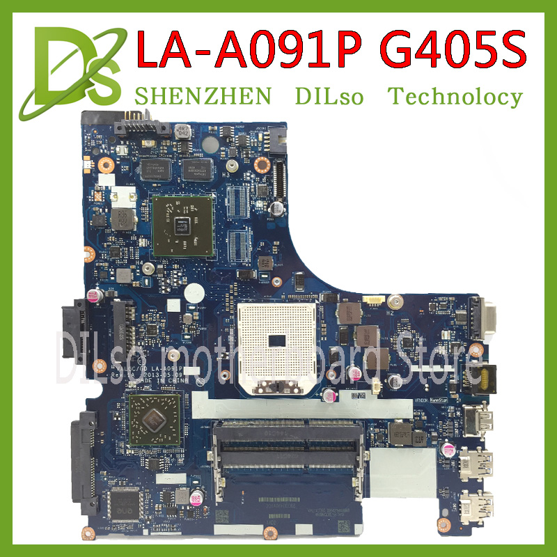 KEFU VALGC/GD LA-A091P motherboard for lenovo G405S laptop motherboard original Test motherboard DDR3 original la 5371p laptop motherboards for lenovo y550 y550p motherboard pm55 n10p gs a2 ddr3 non integrated 100% test ok