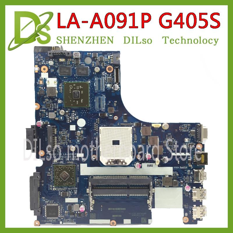 все цены на KEFU VALGC/GD LA-A091P motherboard for lenovo G405S laptop motherboard original Test motherboard DDR3 онлайн