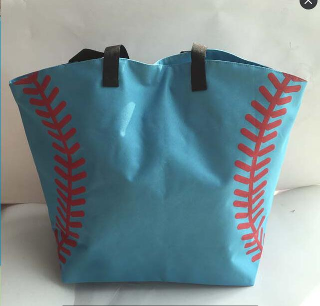 Fine Pink Yellow Softball White Baseball Jewelry Packaging Blanks Kids Cotton Sports Bags Baseball Softball Tote Bag For Children Packing Of Nominated Brand
