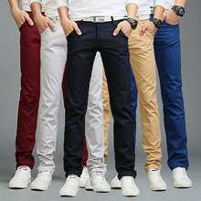 2019 Droppshiping Fashion Men Business Casual Pants Cotton Slim Straight Trousers Spring Summer Long BFJ55