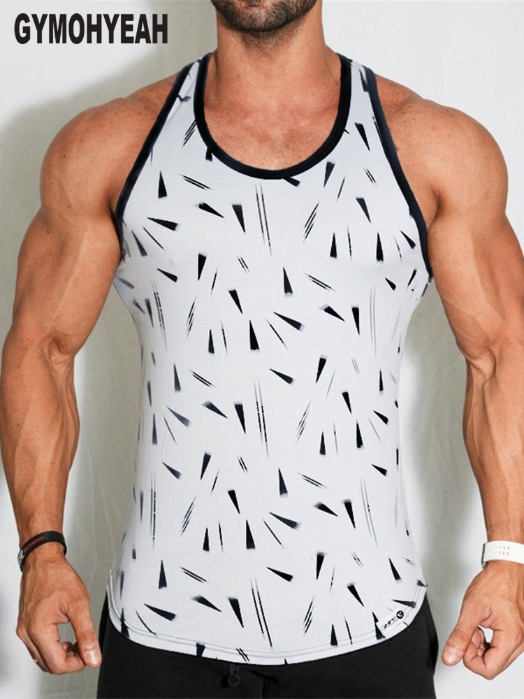 new Mens Bodybuilding   Tank     Tops   sleeveless Shirt male Gyms Fitness vest Undershirt sportswear printing   Tank     Top   men clothing