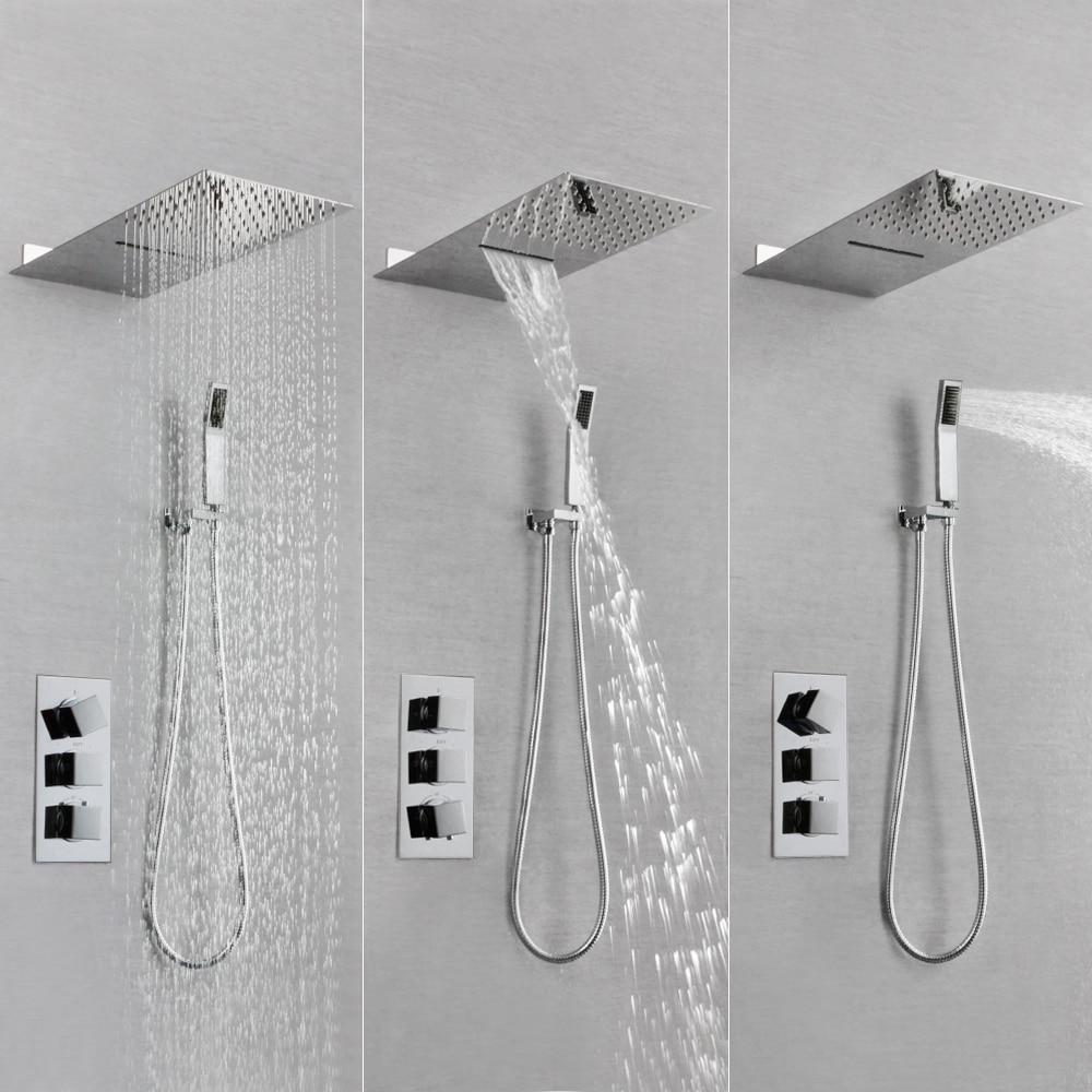 Frap Shower Faucets Bath Shower Head Set Mixer Bathroom Shower Faucet Bathroom Waterfall Rain Shower Panel Bath Faucet Tap 100% Original Shower Equipment