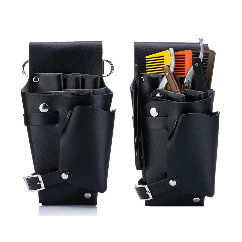 Hair Scissors Bag Scissors Barber Bag Hairdressing Tools PU Leather Scissor Holster Pouch Holder Waist Shoulder Belt Kappers Tas