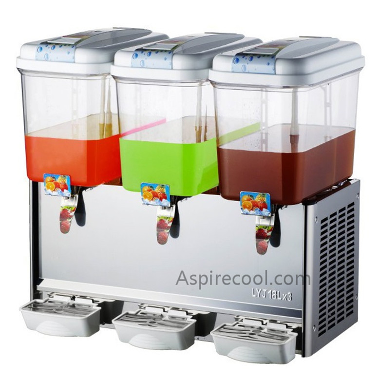 Cooling Drink Dispenser Stainless Steel Body Three Heads Commercial Juice Dispenser 220V/50Hz duoble heads juice dispenser slush machine 15l 2