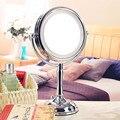 Hd led espejo de maquillaje doble cara espejo princesa espejo de aumento espejo de vanidad espejo de belleza