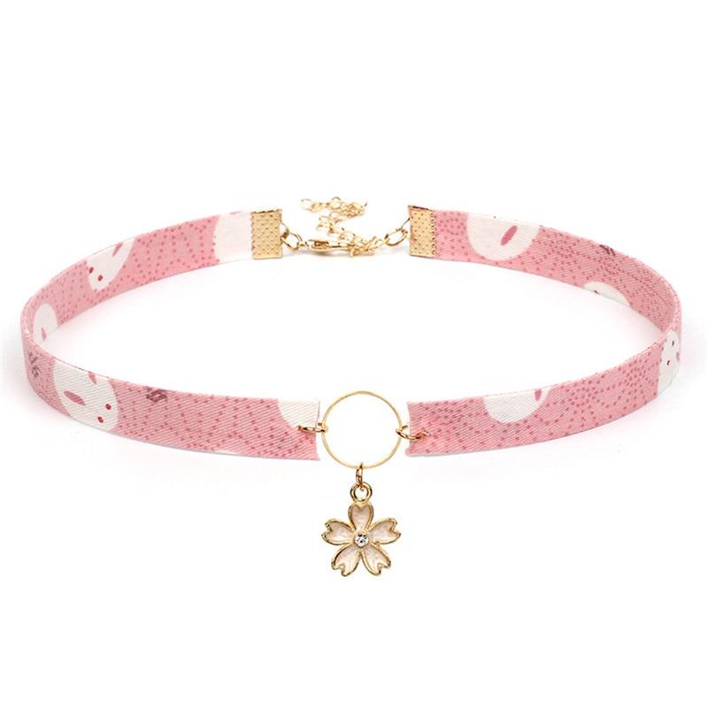 DoreenBeads Fashion Choker Necklace Lavender Japanese Style Cloth Crane Retro Circle Tassel Clavicle Women Chain Necklace,1 PC