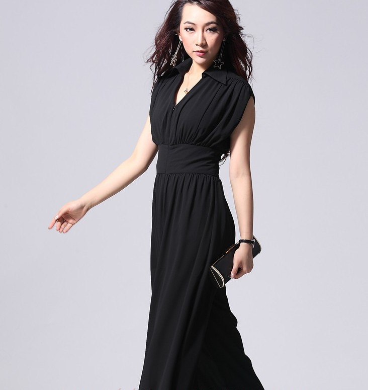 7e0b3b71d3ed High quality Fashion Plus Size Overall Wide Leg Jumpsuits Black Ladies  Romper Jumpsuit Chiffon Designer Jumpsuits and Rompers on Aliexpress.com
