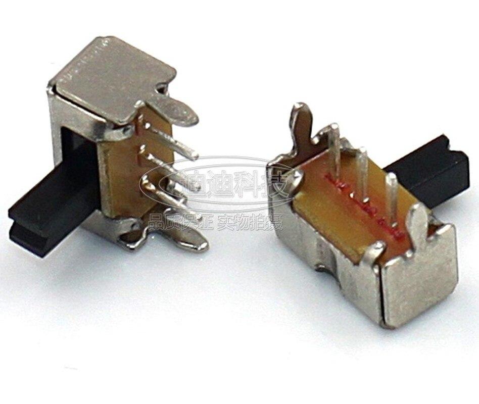 50 шт. SK12D07 тумблер 3Pin PCB 2 положения 1P2T SPDT Миниатюрный скользящий переключатель Боковая ручка SK12D07VG4