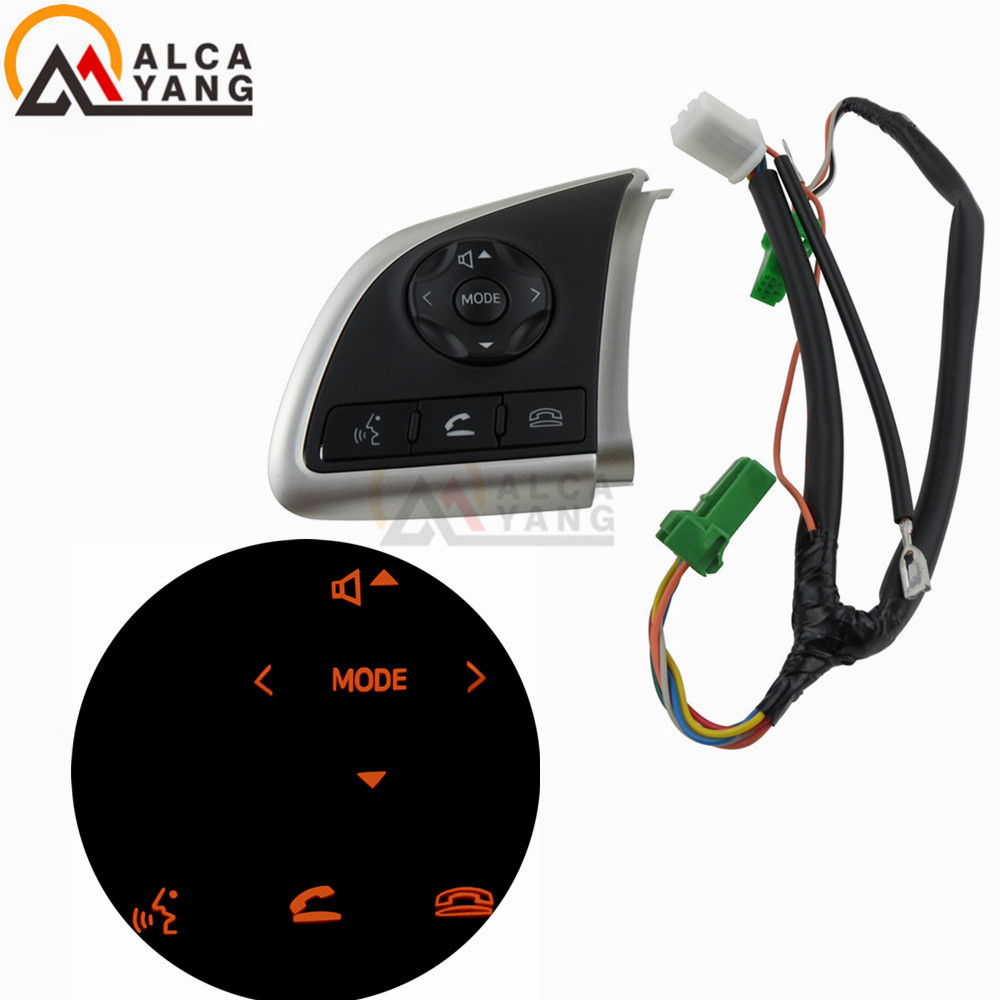 Multifunction Steering Wheel Switch Audio Volume Bluetooth Cruise Control Switch Button For Mitsubishi Outlander Mirage