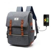 New Waterproof Sport Backpack Laptop Bag For Women Men Outdoor Travel School BookBags External USB Charge