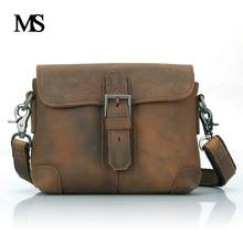 Business Men Genuine Leather Bag Natural Cowskin Men Messenger Bags Vintage Men's Cowhide Shoulder Crossbody Bag TW2003 все цены