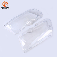 POSSBAY Car Headlight Lens Headlamp Lense Clear Shell Headlight Cover Assembly For BMW 3 Series E46