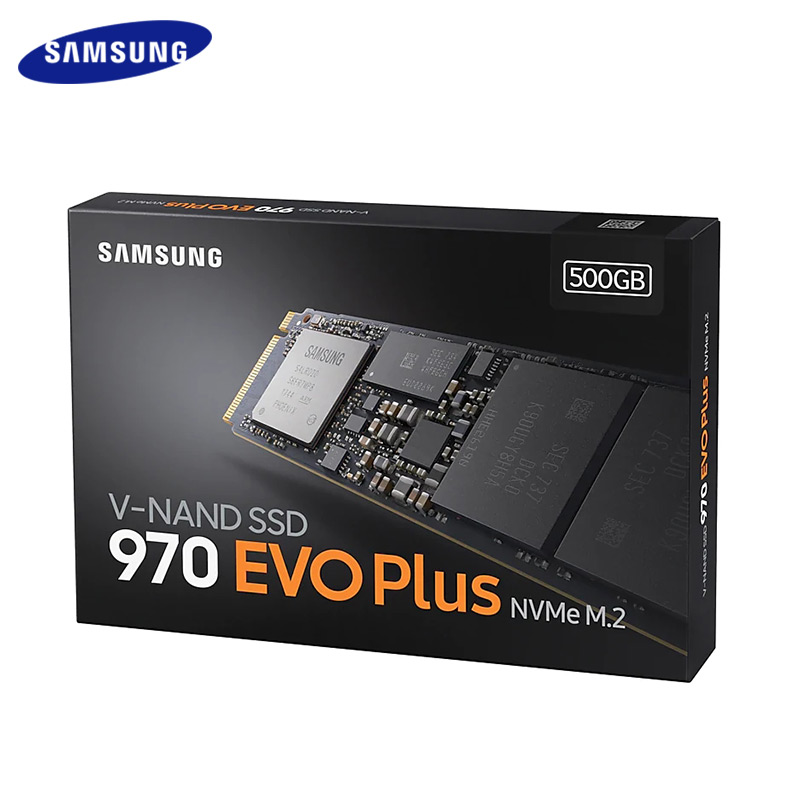 SAMSUNG SSD 1 to 250 GB 500 GB 970 EVO Plus NVMe disque dur à semi-conducteurs interne M.2 2280 TLC PCIe Gen 3.0x4, NVMe 1.3 SSD