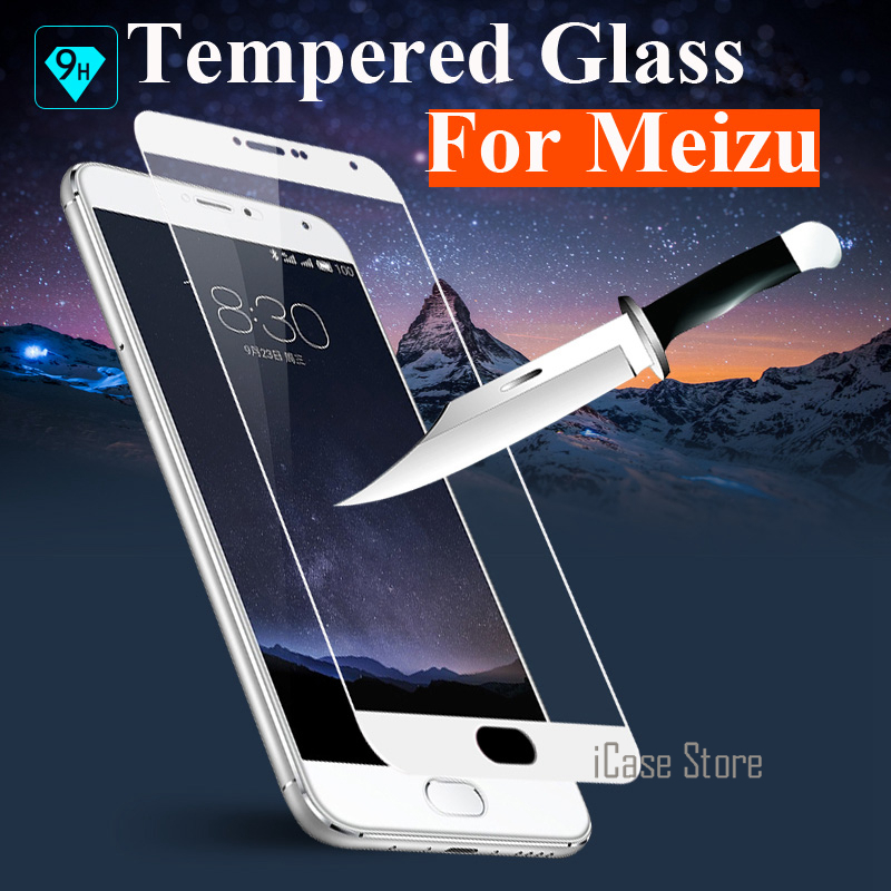 Colorful Full Cover Tempered Glass For Meizu M3 Note M3S mini Pro 6 MX6 U10 U20 M5 Note M5S M3E Screen Protector Protective Film image