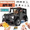 Nieuwe APP RC G-Glas G500 AWD Wagon SUV Voertuig fit Technic MOC 2425 Motor Power Functies Bouwstenen bricks Speelgoed voor kid