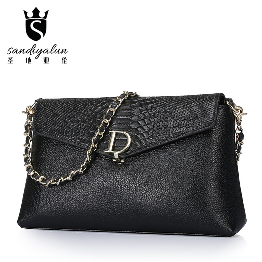 2017 New Women Messenger Bags Fashion Clutches Bag Chain Small Crossbody Bags Brand Handbag Shoulder Bag For Girl rhinestone rose leaf faux gem brooch