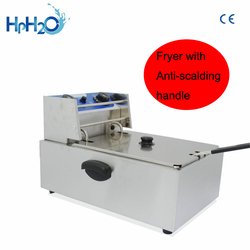 Electric Deep Fryer Electric Frying machine French fries Fry maker Stainless steel Household Chicken Fryer 2500W with timer