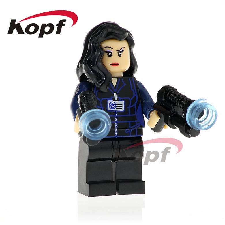 20Pcs XH 790 Super Heroes Melinda May Deathlok Jemma Simmons Mockingbird Bricks Building Blocks Action Toys Gift Model Children
