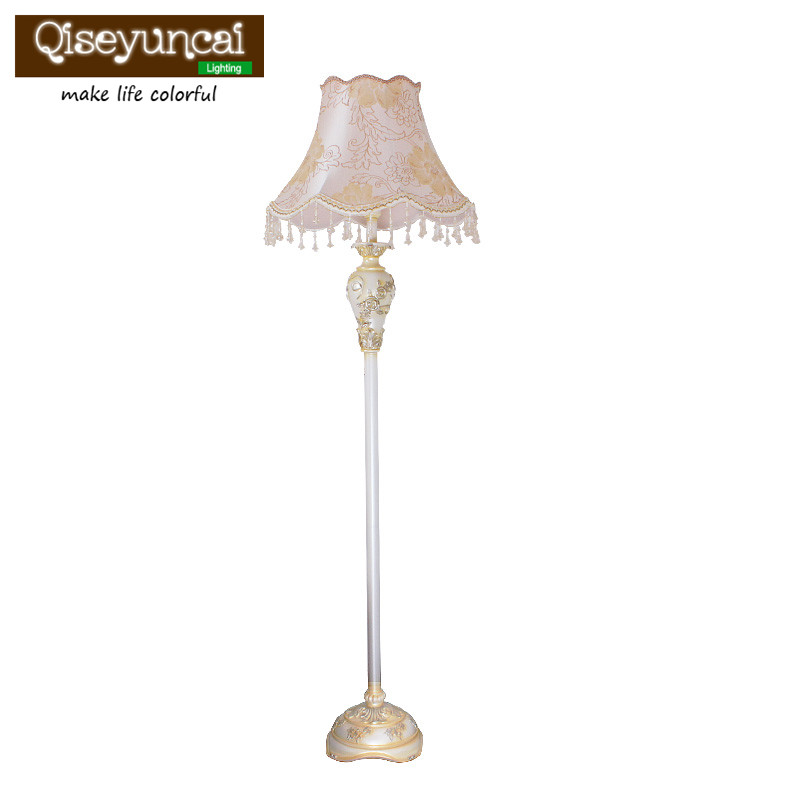 Qiseyuncai Floor lamp Living room Simple Modern Creative Vertical Study Bedroom European style Decorative lamps