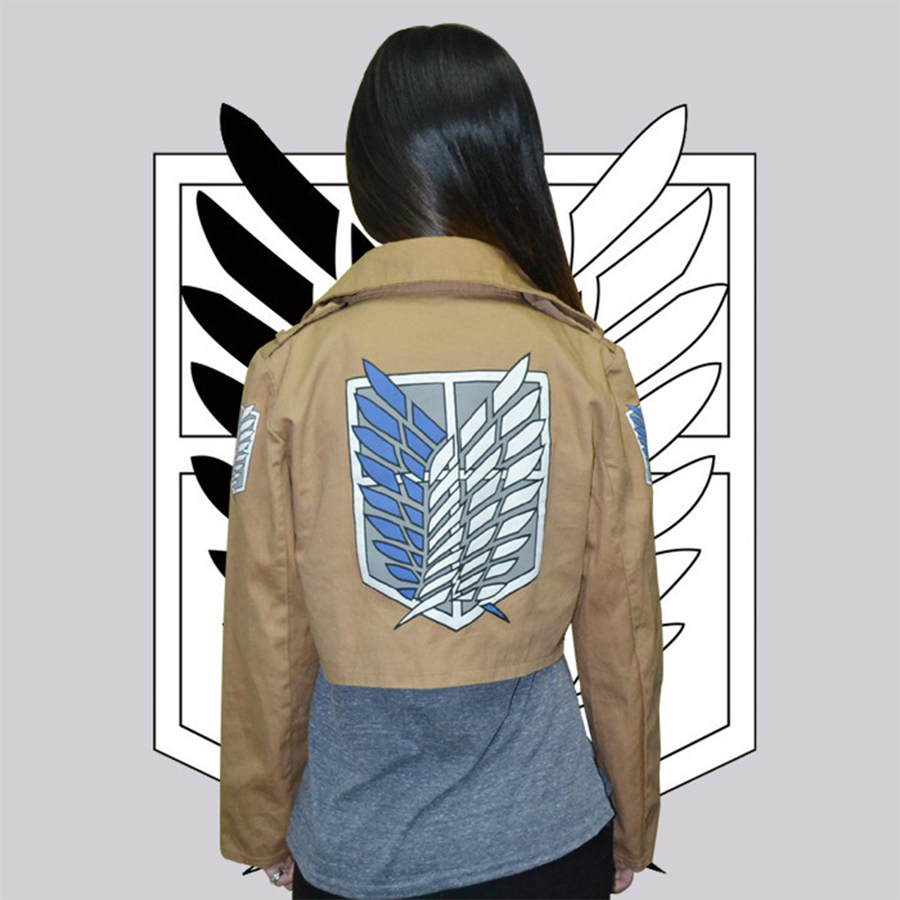 Halloween CostumeAttack on Titan Jacket Shingeki no Kyojin Legion Coat Cosplay Eren Levi Jacket Plus Size Cosplay fantasias