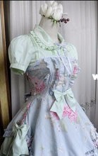 Mint Green Floral Ruffles Classic Lolita Dress Ball Gown Gothic Dress Lolita Cute 6XL Size